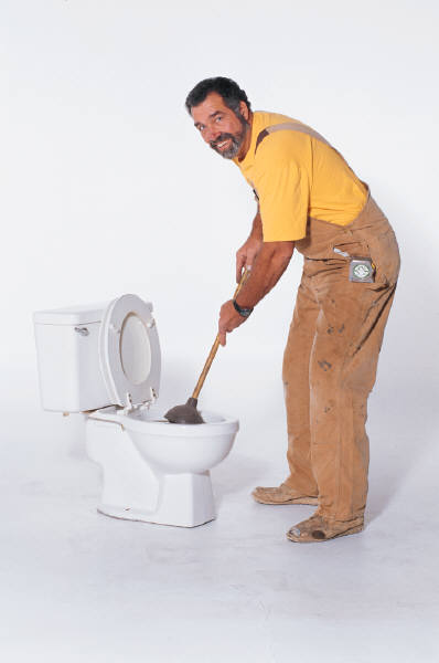 Plumber on job not focusing on web site marketing.